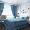 Голубой цвет в интерьере: с чем сочетается, фото комнат