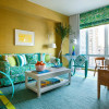 Гостиная в желтых оттенках: вечное лето