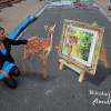 Захватывающие 3D рисунки на асфальте: лучшие фото