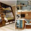 Двухъярусная кровать максимально расширит пространство в вашей квартире (20 идеальных вариантов)
