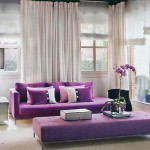 бежево-пурпурный интерьер