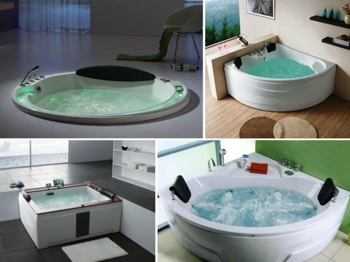 Гидромассажные ванны в интерьере