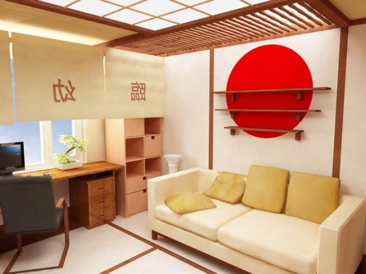 Светлый интерьер в японском стиле