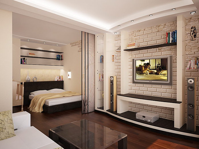 Дизайн однокомнатной квартиры 38 м