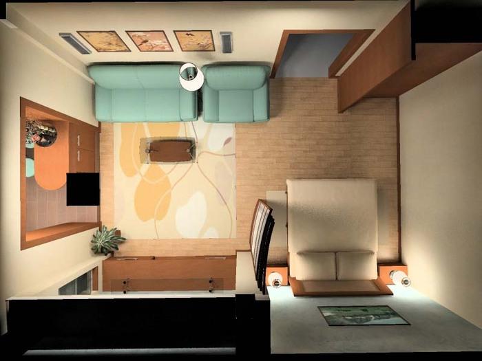 Однокомнатные квартиры интерьер фото