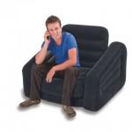 opblaasbare stoel bed opblaasbed opblaasstoel blauw pull out cha