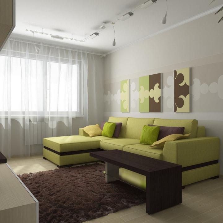 Серо-зеленый зал