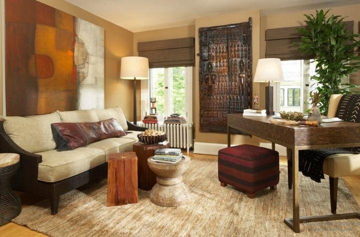 Интерьер гостиной в африканском стиле