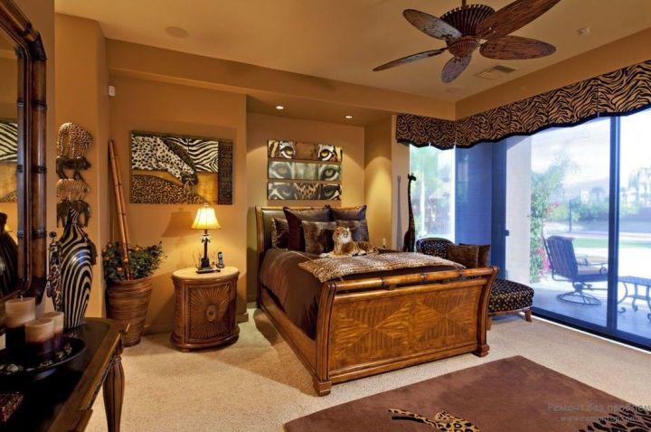 Декор спальни в стиле Африки