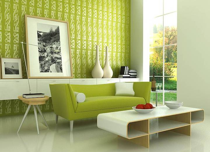Свежая зелень к гостиной