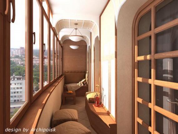 Дизайн длинных балконов