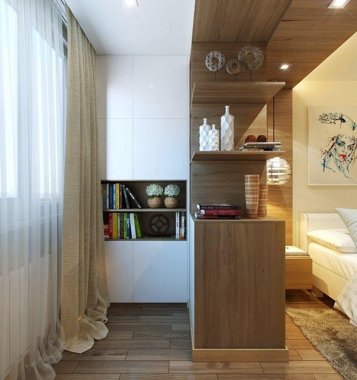 Спальню соединили с балконом