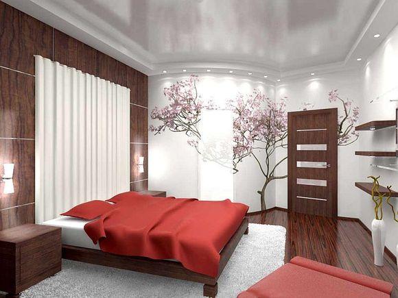 интерьер японской спальни