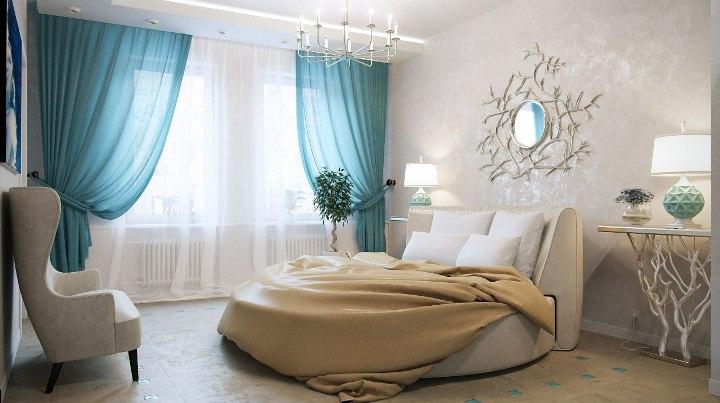 Декоративная краска в спальне