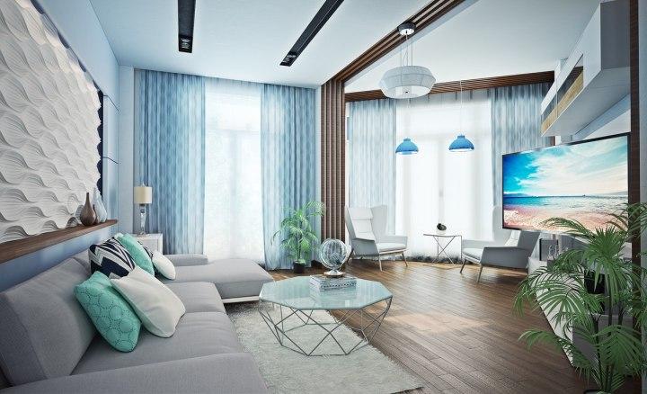 Дизайн интерьера в стиле новая волна