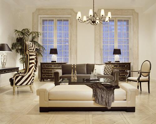 гостиная в стиле арт-деко
