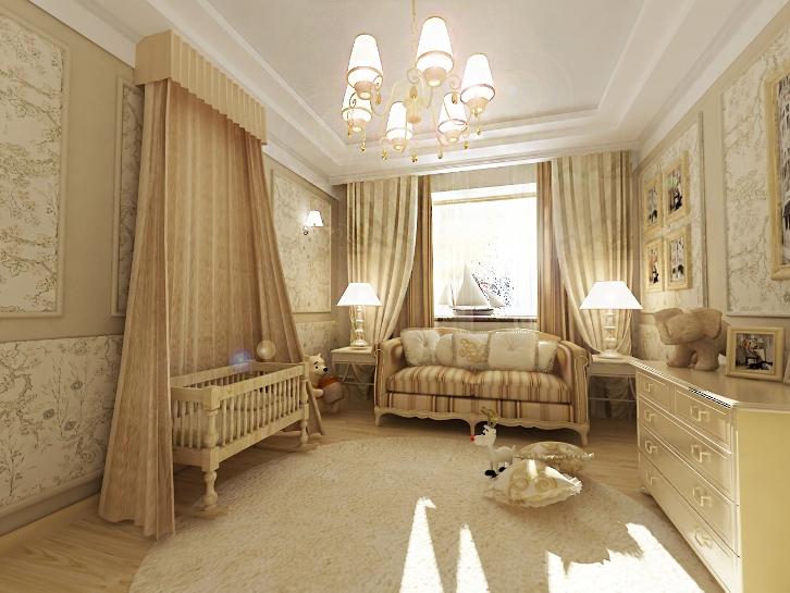 Детская комната в стиле романтизм