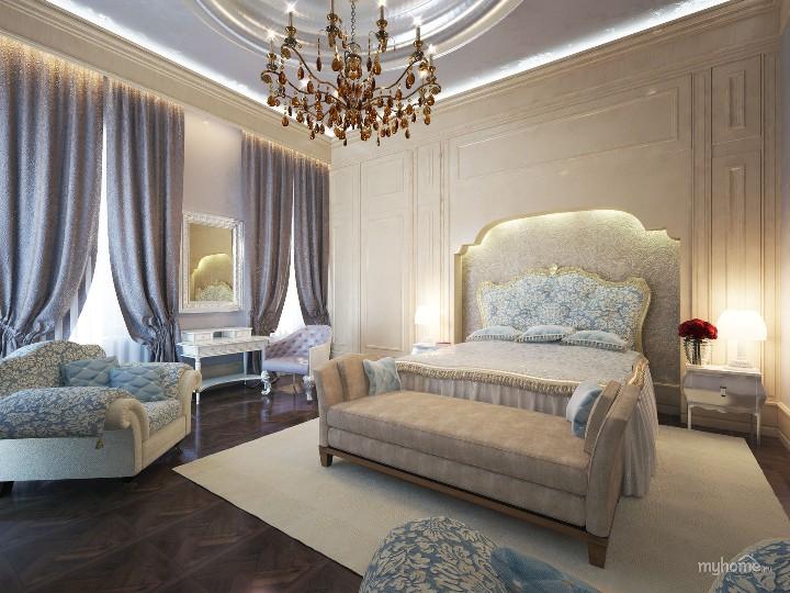 Романтизм в интерьере спальни
