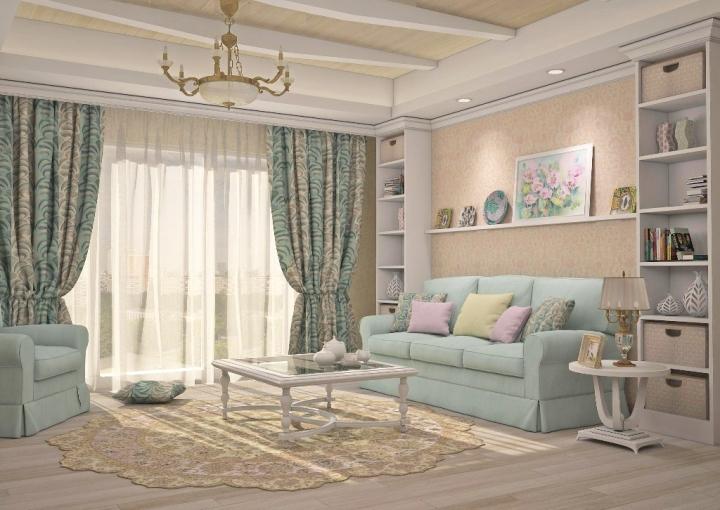 Современный романтизм в гостиной