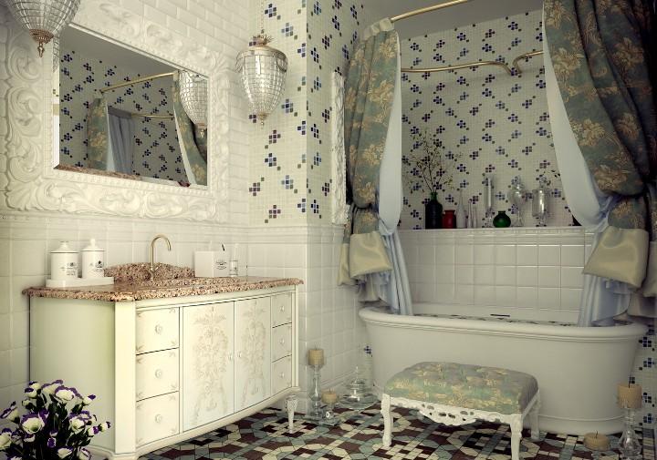 Ванная комната в стиле романтизм