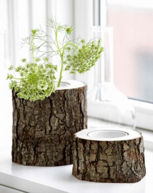 Из дерева ваза своими руками