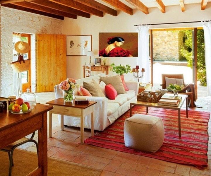 Гостиная в испанском стиле