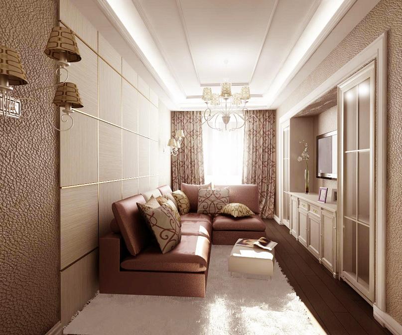 Интерьеры прямых комнат