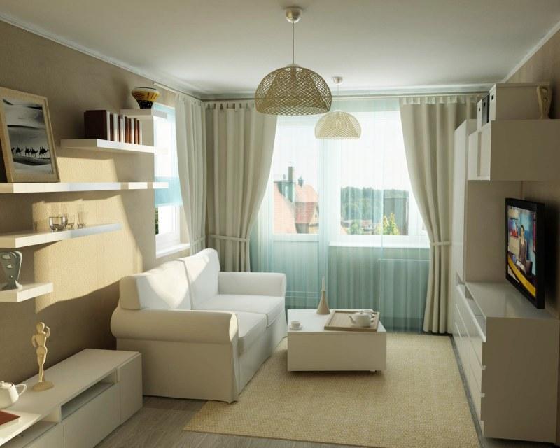 Дизайн комнаты длинной и узкой