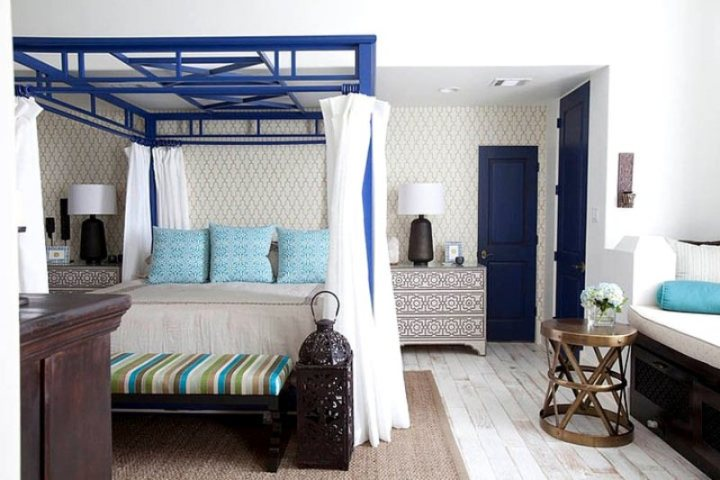 Бело-голубой марокканский интерьер
