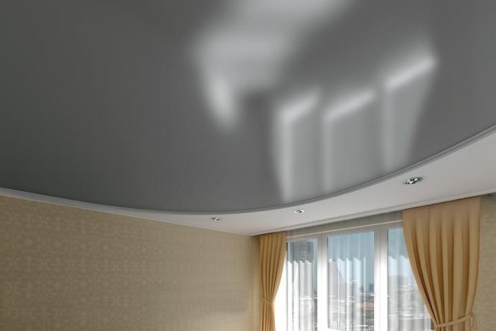 Натяжной потолок: металлик
