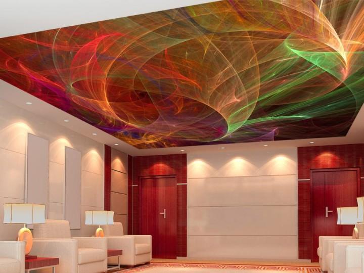 Натяжной потолок с космическим узором