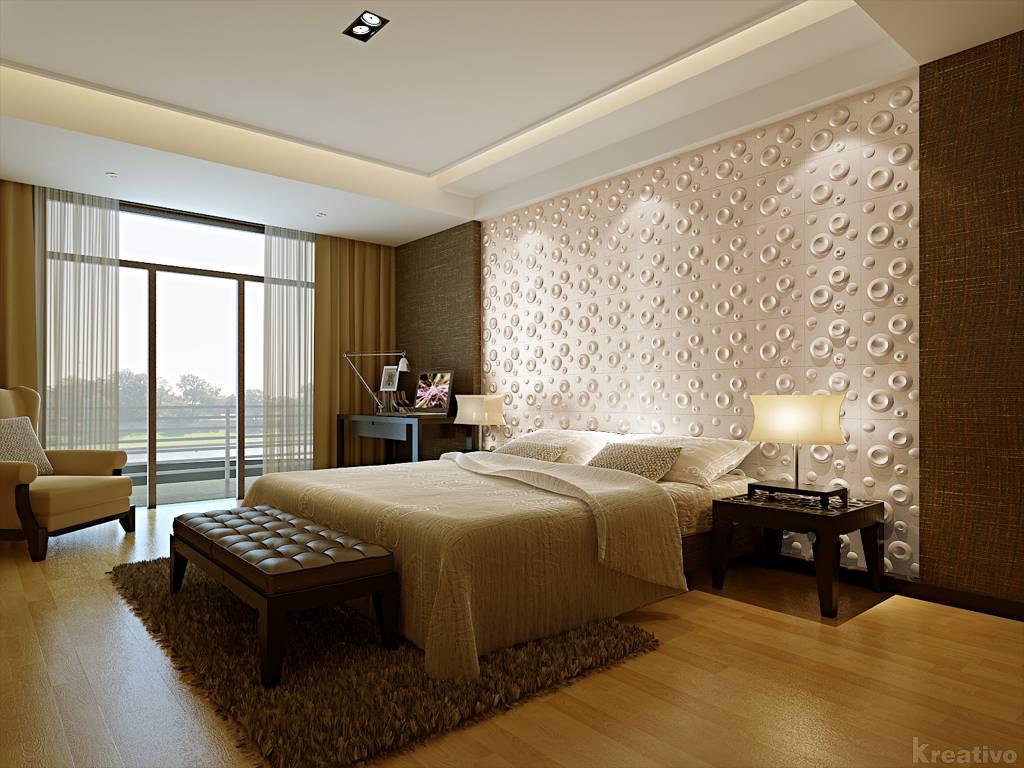 3д панели для стен в спальне