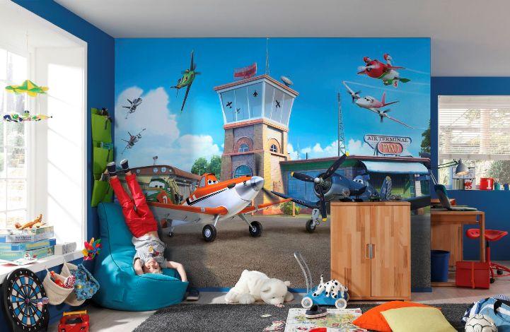 Фотообои в детской комнате с самолетами