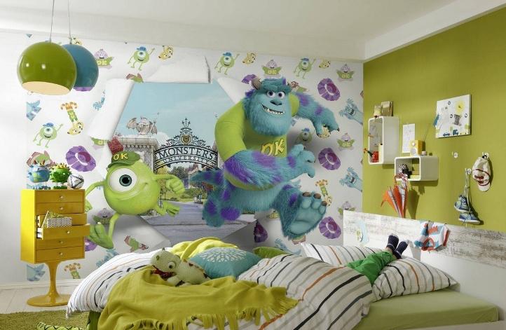 Трехмерные фотообои в детской комнате