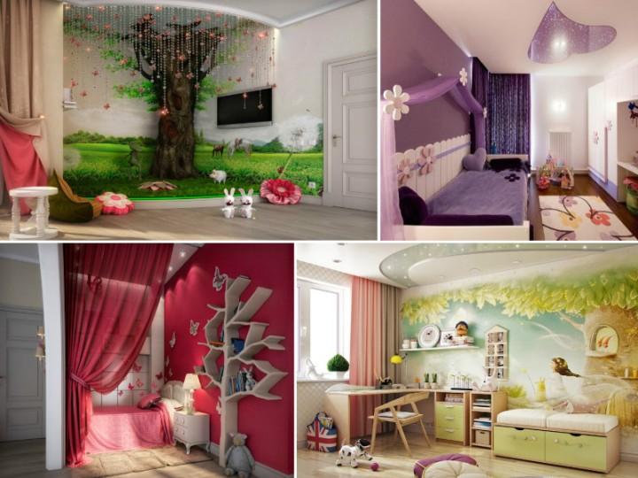 Идеи дизайна детской комнаты для девочки