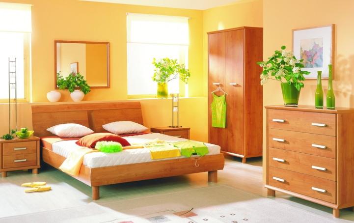Живые растения в спальне