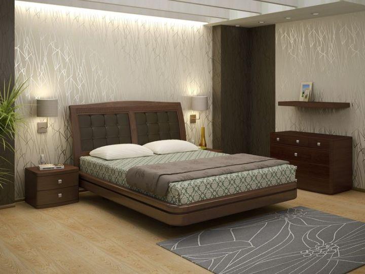 Украшение изголовья кровати светильниками