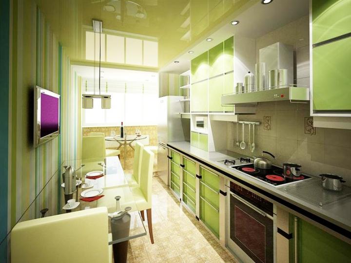 Телевизор на стене в кухне