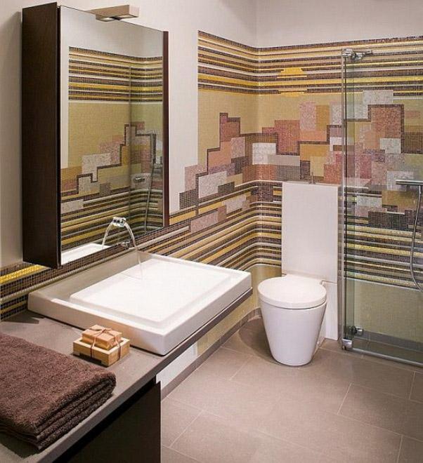 Фото дизайна туалета-библиотеки в квартире