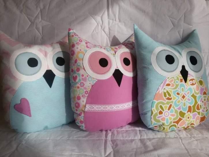 Декоративные подушки - совы