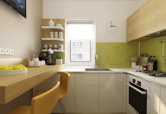 Дизайн кухни 6 метров с маленьким столом