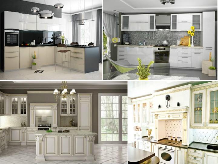 Фото белых кухонь