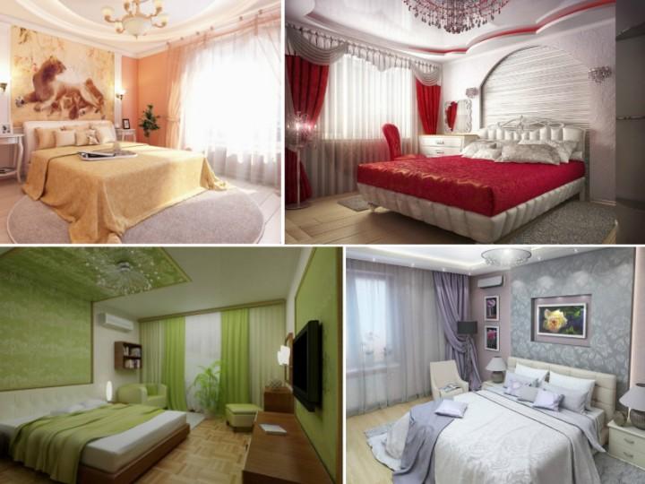 Фото спален разных цветов