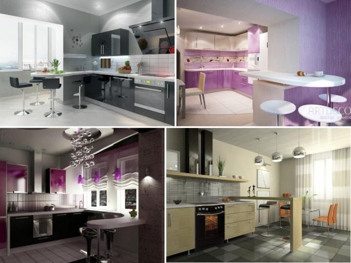 Фото кухонь с барными стойками