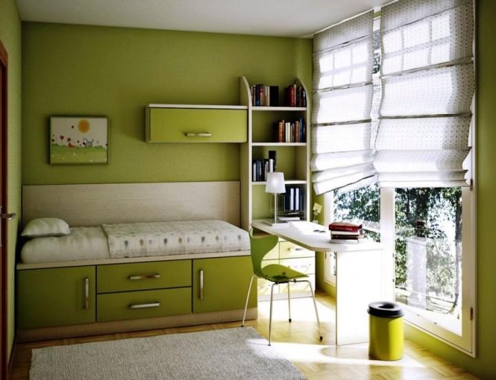 Зеленая комната малогабаритная