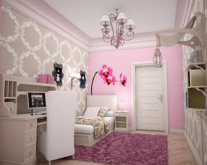 Милая спальня в розовых тонах