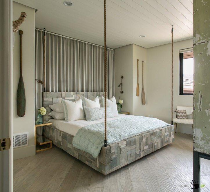 Брутальная подвесная кровать