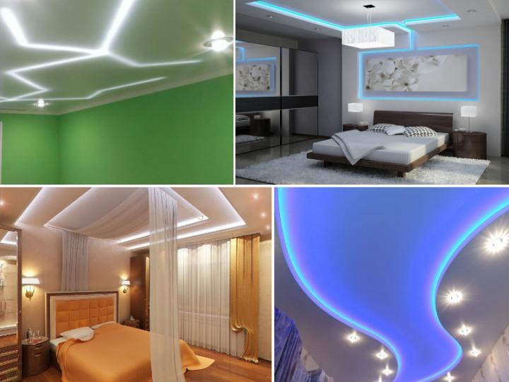 Потолки с подсветкой: идеи