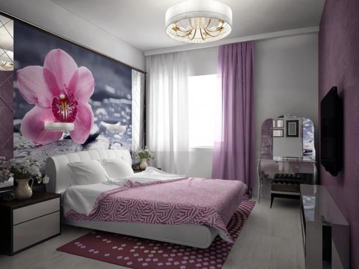 Оформление спальни в розовых тонах