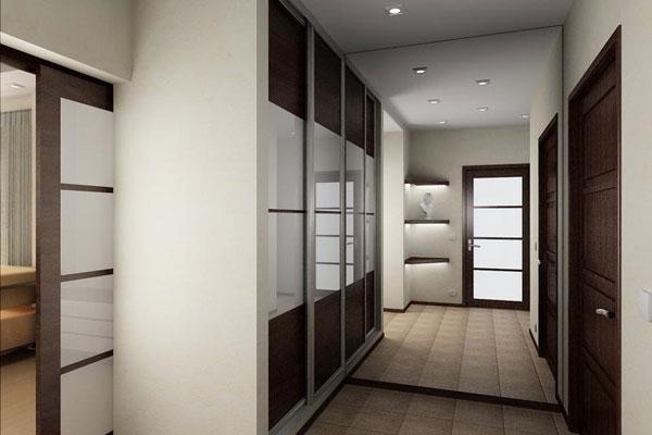 Дизайн стены коридора